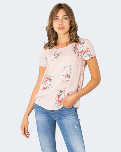 T-shirt Only FIRST MIX TOP NOOS FLOWERS AW Rosa - Foto 1