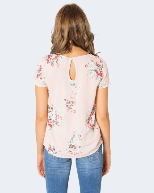 T-shirt Only FIRST MIX TOP NOOS FLOWERS AW Rosa - Foto 2