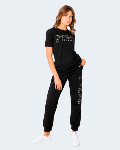 T-shirt Pyrex LOGO SILVER VELLUTO Nero – 74243
