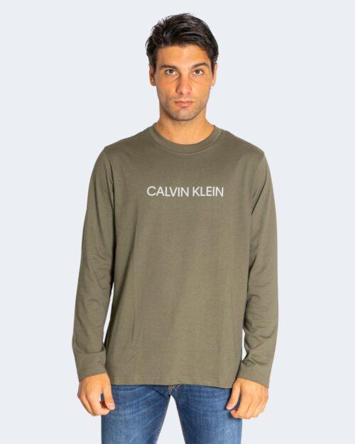 T-shirt manica lunga Calvin Klein Performance PW Verde Oliva – 71983