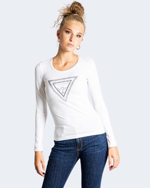 T-shirt manica lunga Guess LS CN AMALUR TEE Bianco – 74418