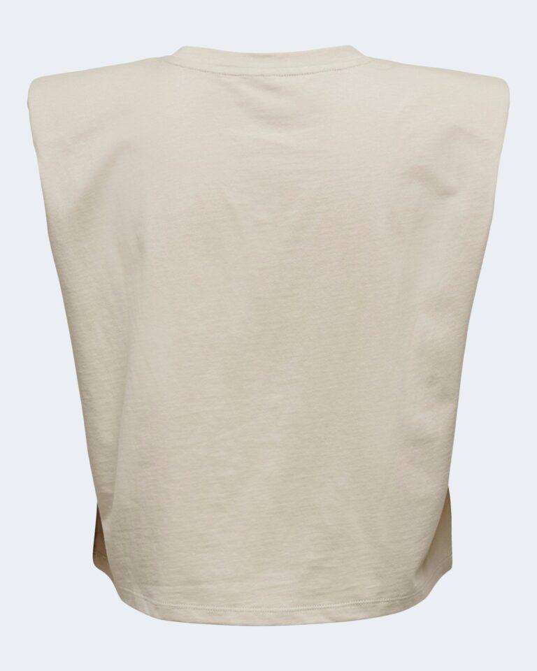 T-shirt Only JEN LIFE S/L SHOULDERPAD TOP JRS - 15227142 Beige - Foto 5