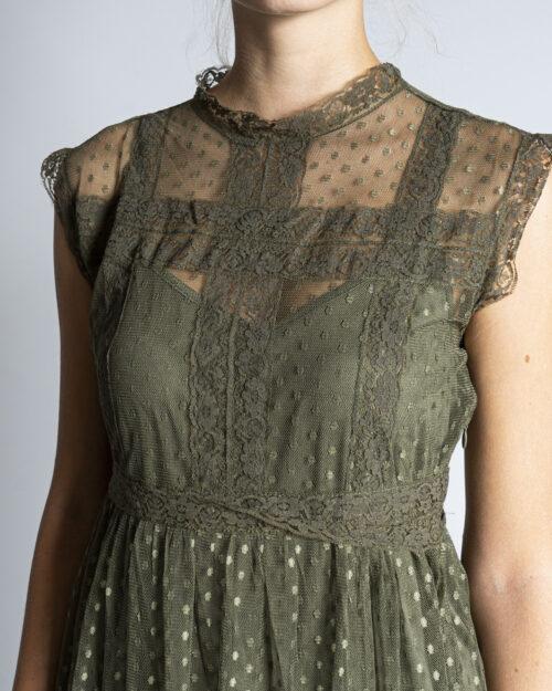 Vestito corto Jacqueline De Yong LINE Verde Oliva – 63269