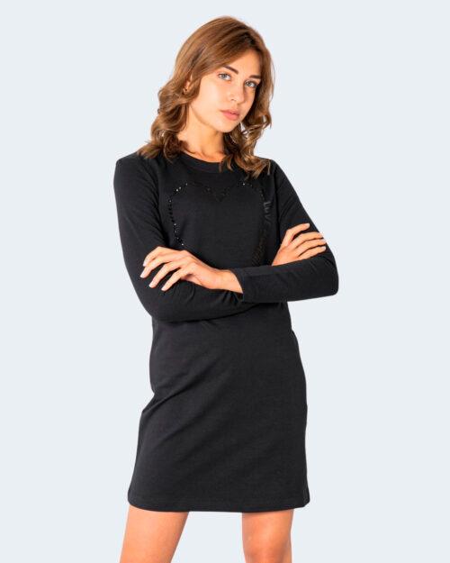 Vestito corto Love Moschino CUORE GRANDE Nero – 74205