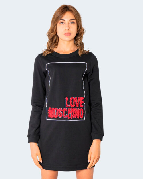 Vestito corto Love Moschino LOGO RILIEVO Nero – 74196