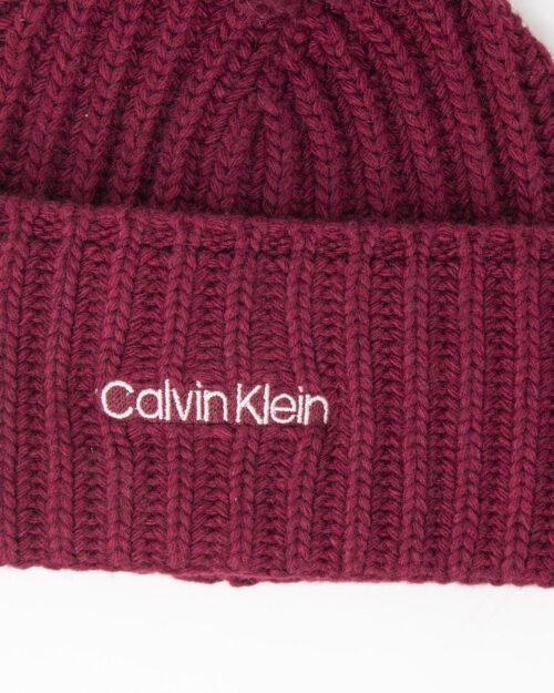Berretto Calvin Klein BEANIE Bordeaux – 77799