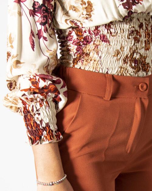 Bluse manica lunga Akè STAMPA FLOREALE Beige – 78051