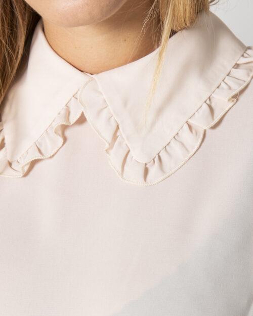 Bluse manica lunga Akè ORLO ELASTICO Rosa Cipria – 78054