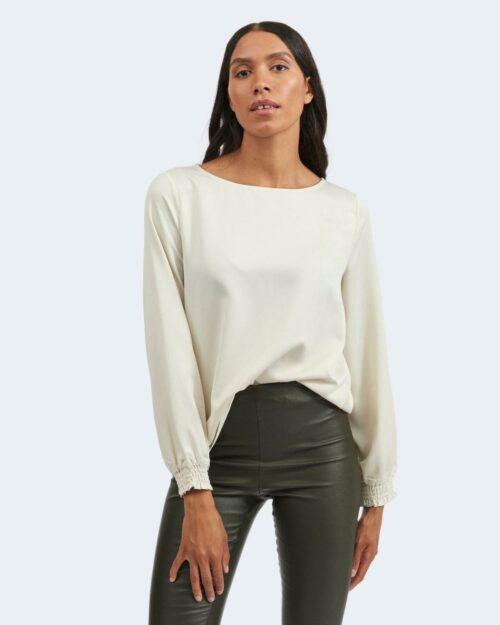 Bluse manica lunga Vila Clothes VILADEE BOATNECK Beige – 78017