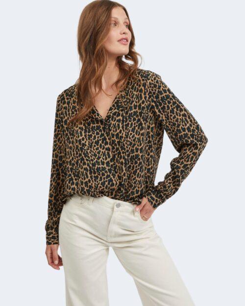 Bluse manica lunga Vila Clothes VILUCY Marrone – 78021