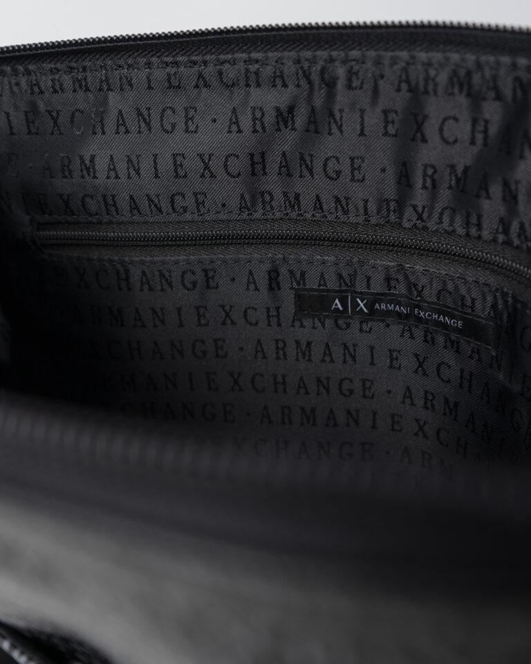 Borsa Armani Exchange BORSA FLAT MESSENGER Nero - Foto 4