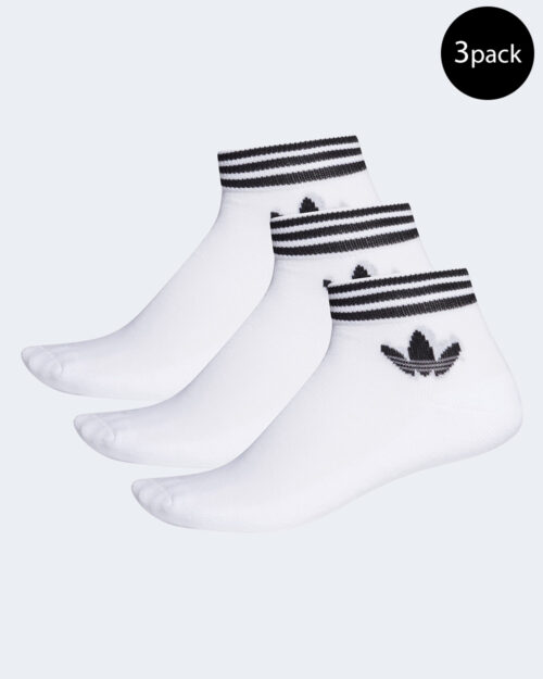 Calzini corti Adidas Trefoil Ankle Sock Unisex 3PP Bianco – 49266