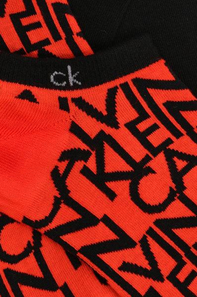Calzini corti Calvin Klein LINER 2P MULTILOGO Rosso – 73009