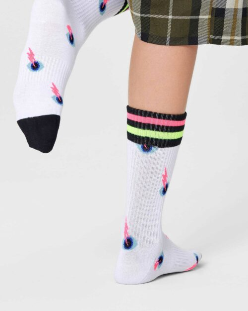 Calzini Happy Socks I SEE YOU THIN CREW SOCKS Bianco – 76758