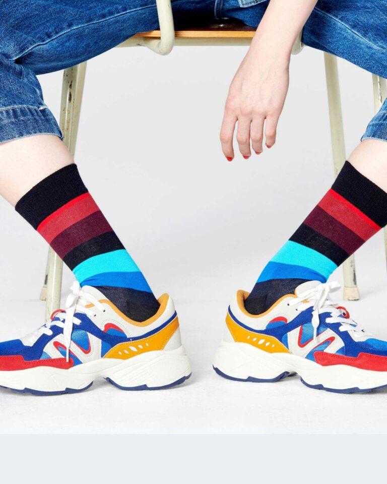 Calzini Happy Socks CALZINI STRIPE SOCKS Nero - Foto 1