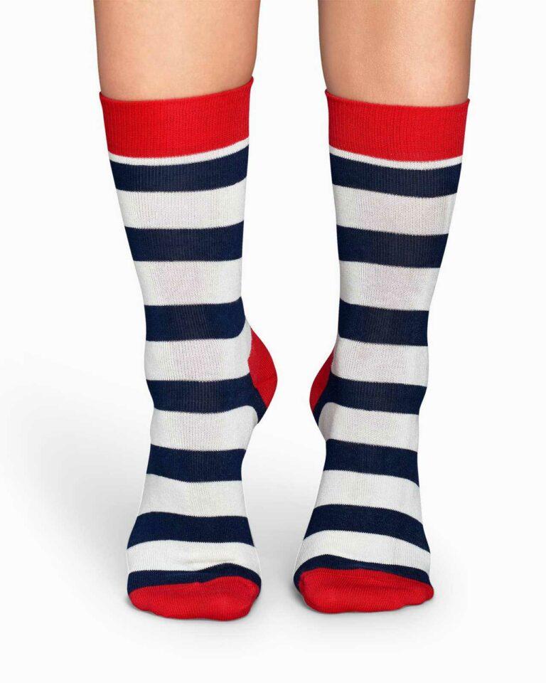 Calzini Happy Socks CALZINI STRIPE SOCKS Panna - Foto 1