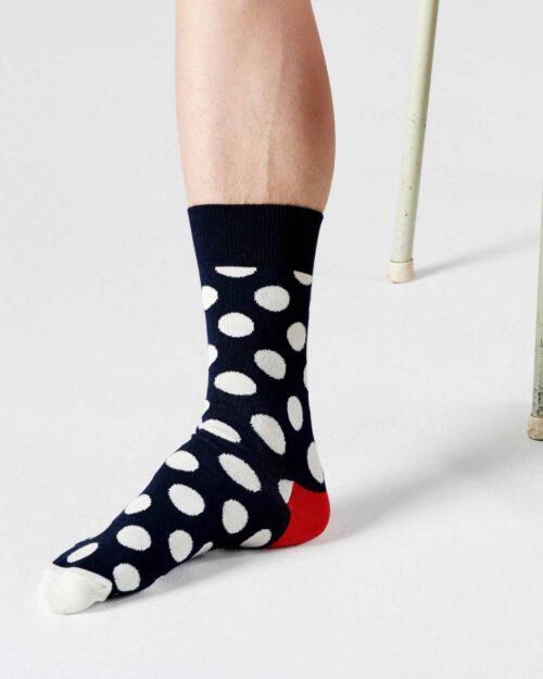 Calzini Lunghi Happy Socks BIG DOT SOCK Blu - Foto 1