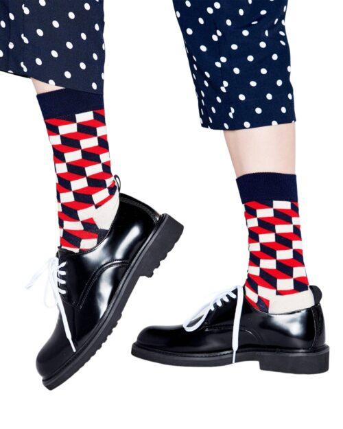 Calzini Lunghi Happy Socks FILLED OPTIC SOCKS Blue scuro – 76735