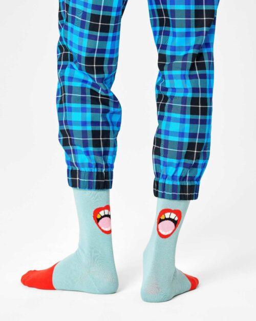 Calzini Lunghi Happy Socks WE NEED TO TALK SOCK Celeste – 76769