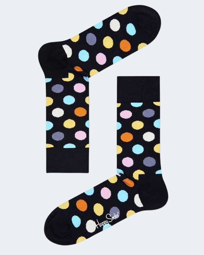 Calzini Lunghi Happy Socks BIG DOT SOCK Nero - Foto 2