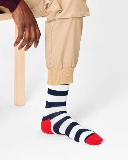 Calzini Lunghi Happy Socks STRIPE SOCK-045-068 Rosso - Foto 1