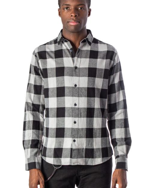 Camicia manica lunga Only & Sons GUDMUND LS CHECKED SHIRT NOOS Grigio - Foto 1