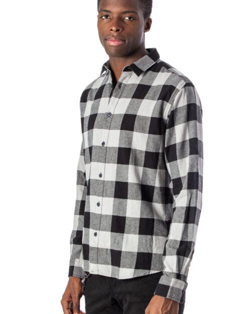 Camicia manica lunga Only & Sons GUDMUND LS CHECKED SHIRT NOOS Grigio - Foto 2