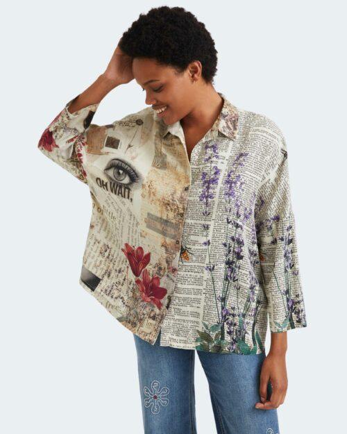 Camicia manica lunga Desigual new york Beige – 77024