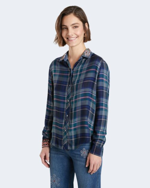 Camicia manica lunga Desigual susan sontag Blu – 76979