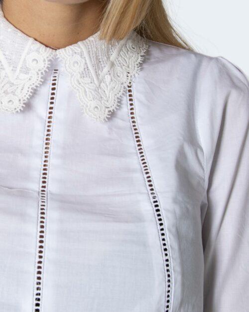 Camicia manica lunga Sandro Ferrone COLLETTO IN PIZZO Bianco – 78658