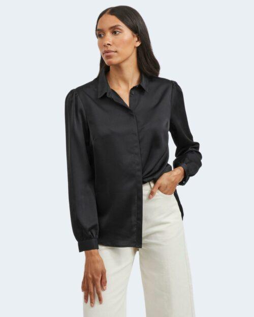 Camicia manica lunga Vila Clothes VIELLETTE SATIN Nero – 78018