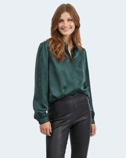 Camicia manica lunga Vila Clothes VIELLETTE SATIN Verde – 78018