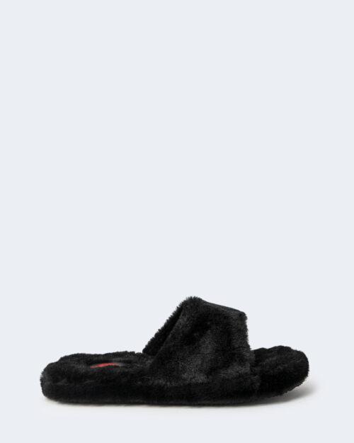 Ciabatte con fascia Ralph Lauren FUR SLIDE Nero – 76965