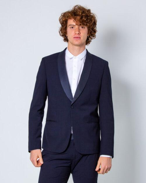 Giacca Antony Morato Blanche con rever in contrasto Slim fit Blu – 40591