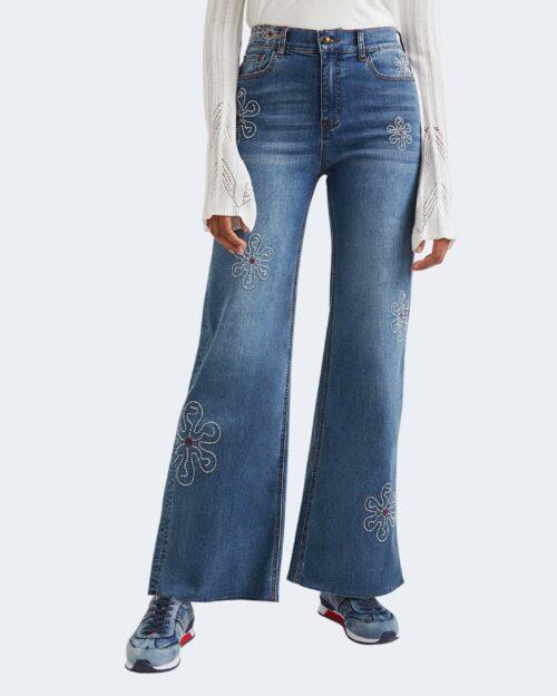 Jeans larghi Desigual OH MY FLOWER Blu – 73381