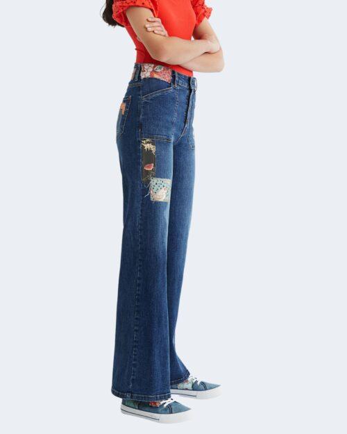 Jeans larghi Desigual PATCH Blu – 73425