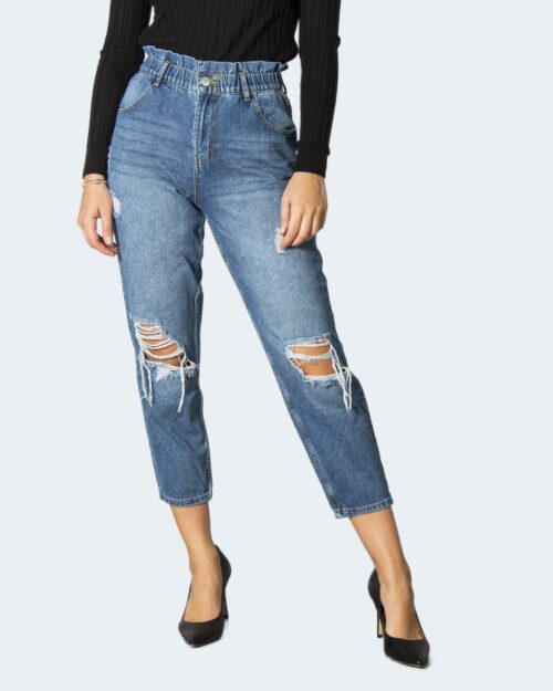 Jeans mom Only ONLOVA LIFE HW CARROT ANK MB DES DNM MAE – 15235714 Blue Denim – 71852