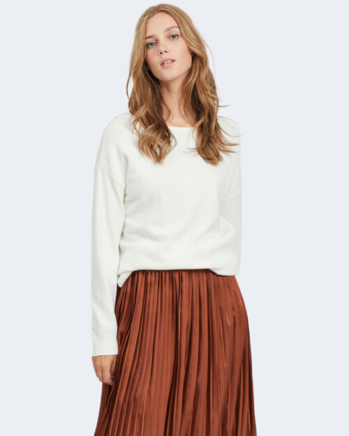 Maglia Vila Clothes VIRIL HIGH LOW Bianco – 78668