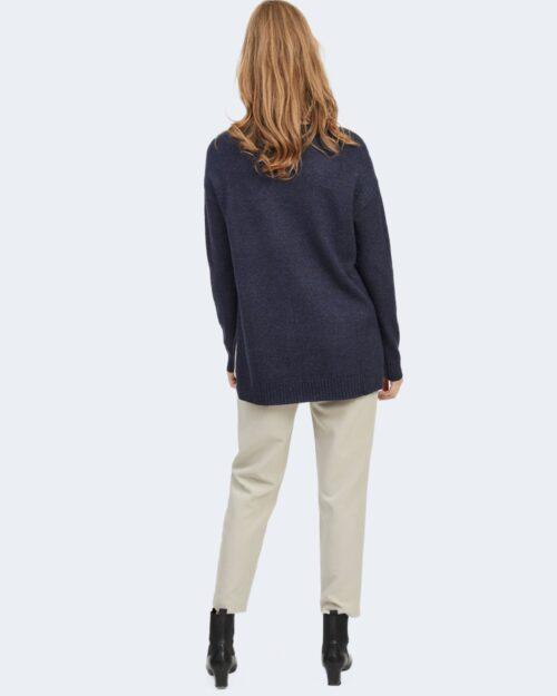 Maglia Vila Clothes VIRIL HIGH LOW Blue scuro – 78668