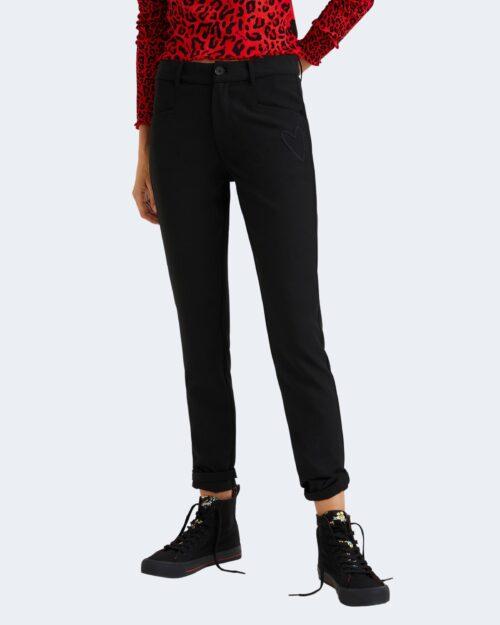 Pantaloni a sigaretta Desigual CORUNA Nero – 73322
