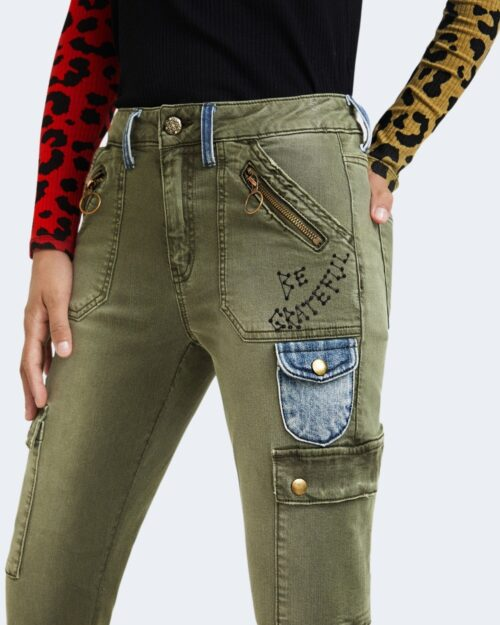 Pantaloni skinny Desigual COBAIN Verde – 73197