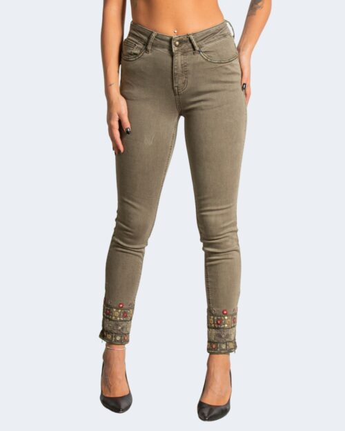 Pantaloni skinny Desigual DELFOS Verde Oliva – 73274