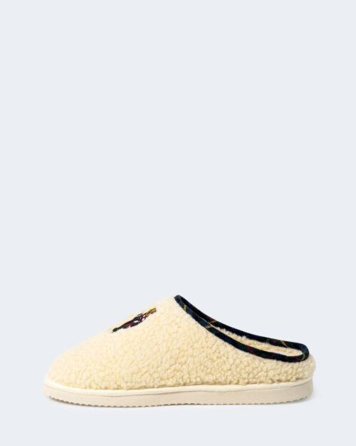 Pantofole Ralph Lauren CHARLOTTE SCUFF BEAR Crema – 76969