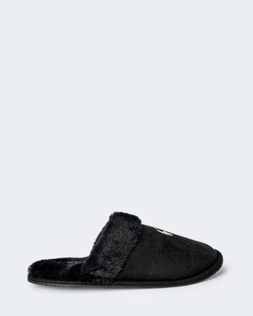 Pantofole Ralph Lauren BLACK SUMMIT SCUFF Nero – 77792
