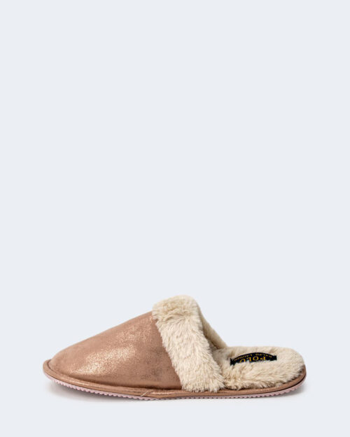 Pantofole Ralph Lauren PINK METALLIC SUMMIT SCUFF Rosa – 77793