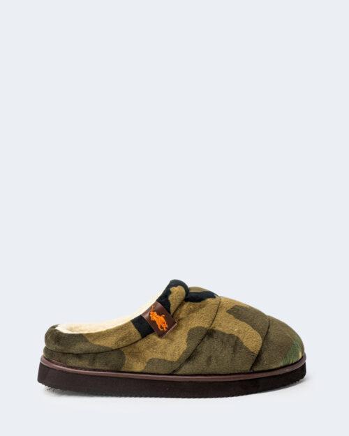 Pantofole Ralph Lauren SUTTON SCUFF Verde Oliva – 76958