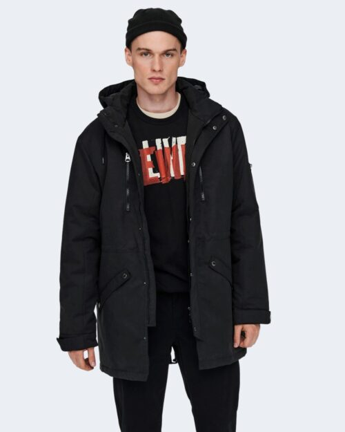 Parka Only & Sons KLAUS WINTER Nero – 71899