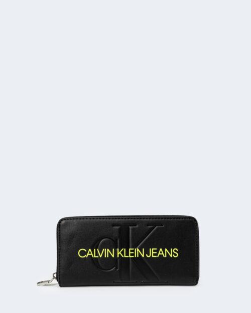 Portafoglio grande Calvin Klein SCULPTED Nero – 76812