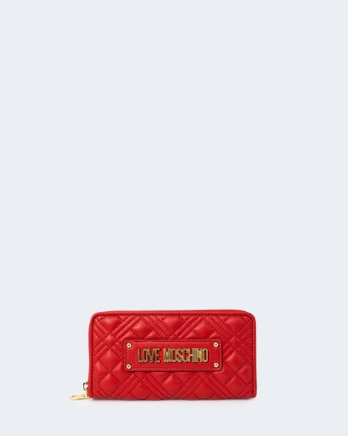 Portafoglio grande Love Moschino QUILTED Rosso – 76651