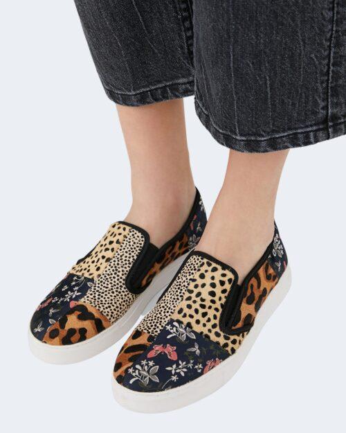 Sneakers Desigual slip on_animal patch Beige – 76972